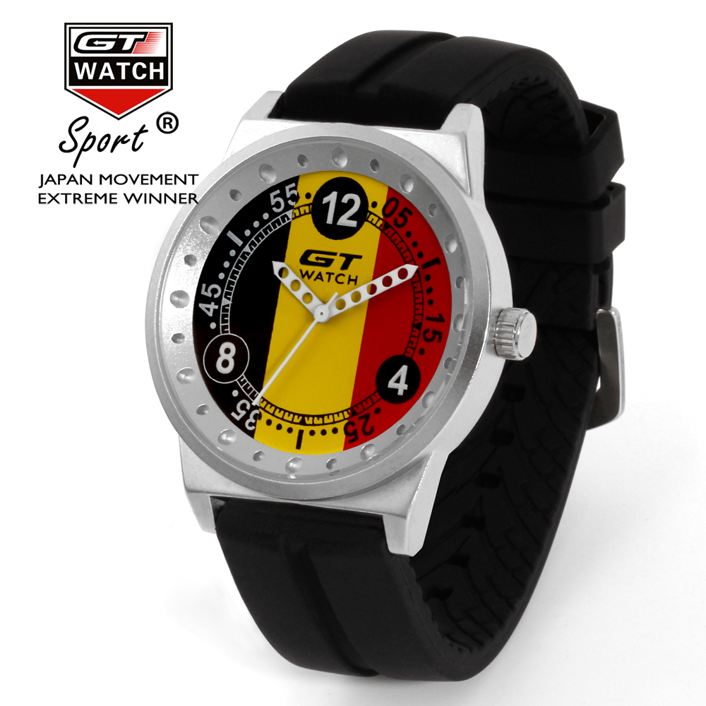 GT Watch Men Fashion Brand Watches Germany Flag F1 Sport Watches Silicone Strap Quartz-Watch relogio masculino reloj hombre gt watch men watch italy flag f1 sport watches silicone strap quartz watch male hour clock montre homme relogio masculino