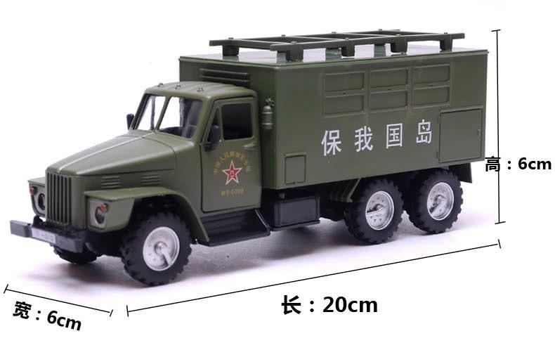 ทหารกล่องชนิดรถบรรทุกสนามกองทัพกลับรถยนต์ล้อแม็กรุ่นเด็กของเล่นการศึกษาของเล่น