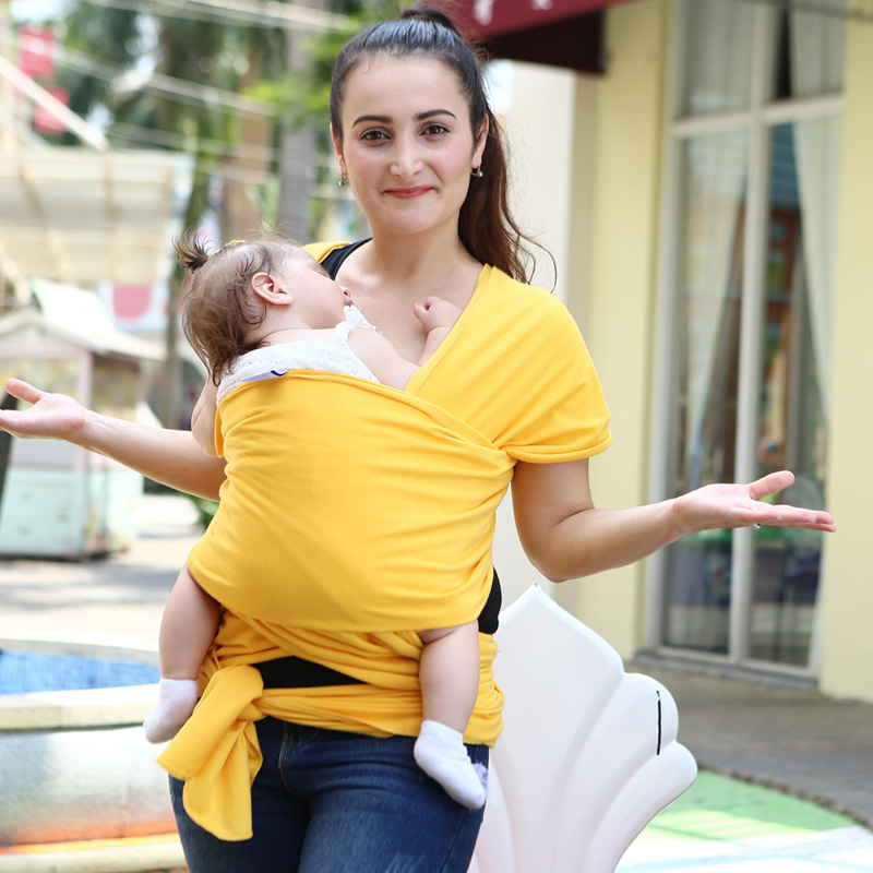 Baby Wrap Carrier - Baby Infant Sling Product Soft Natural Baby Wrap Carrier Backpack 0-3 Yrs   1