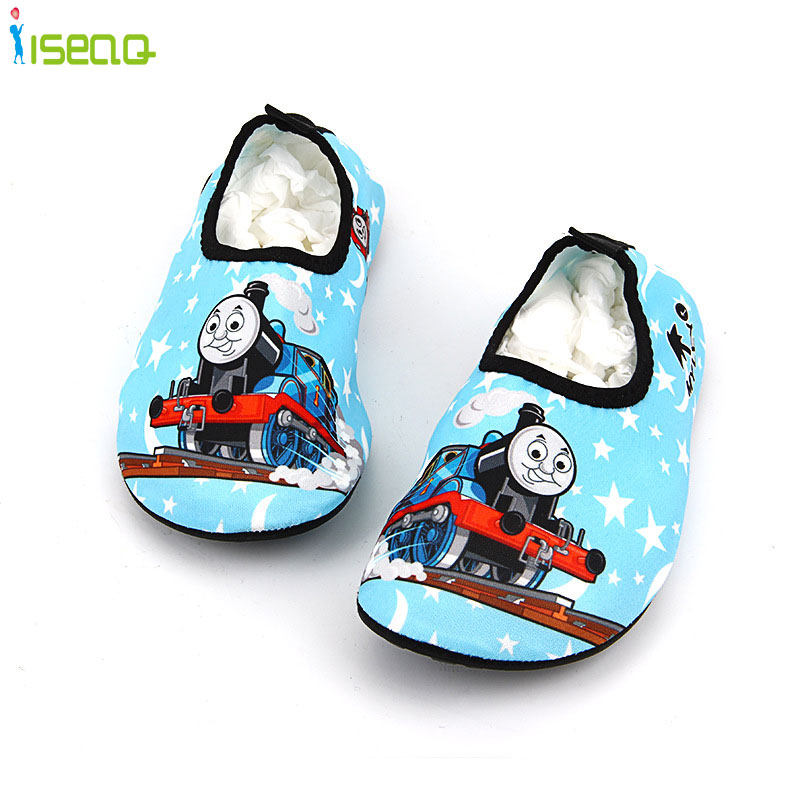 children swim shoes cartoon breathable drifting anti-skid skin care shoes cute beach shoes print sandals home shoes EUR 24-35