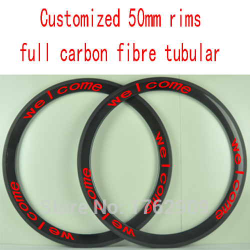 2Pcs New customized 700C 50mm tubular rims Road bike aero 3K UD 12K full carbon fibre bicycle wheels rims lightest Free shipping carbon wheels 700c 88mm depth 25mm bicycle bike rims 3k ud glossy matte road bicycles rims customize carbon rims