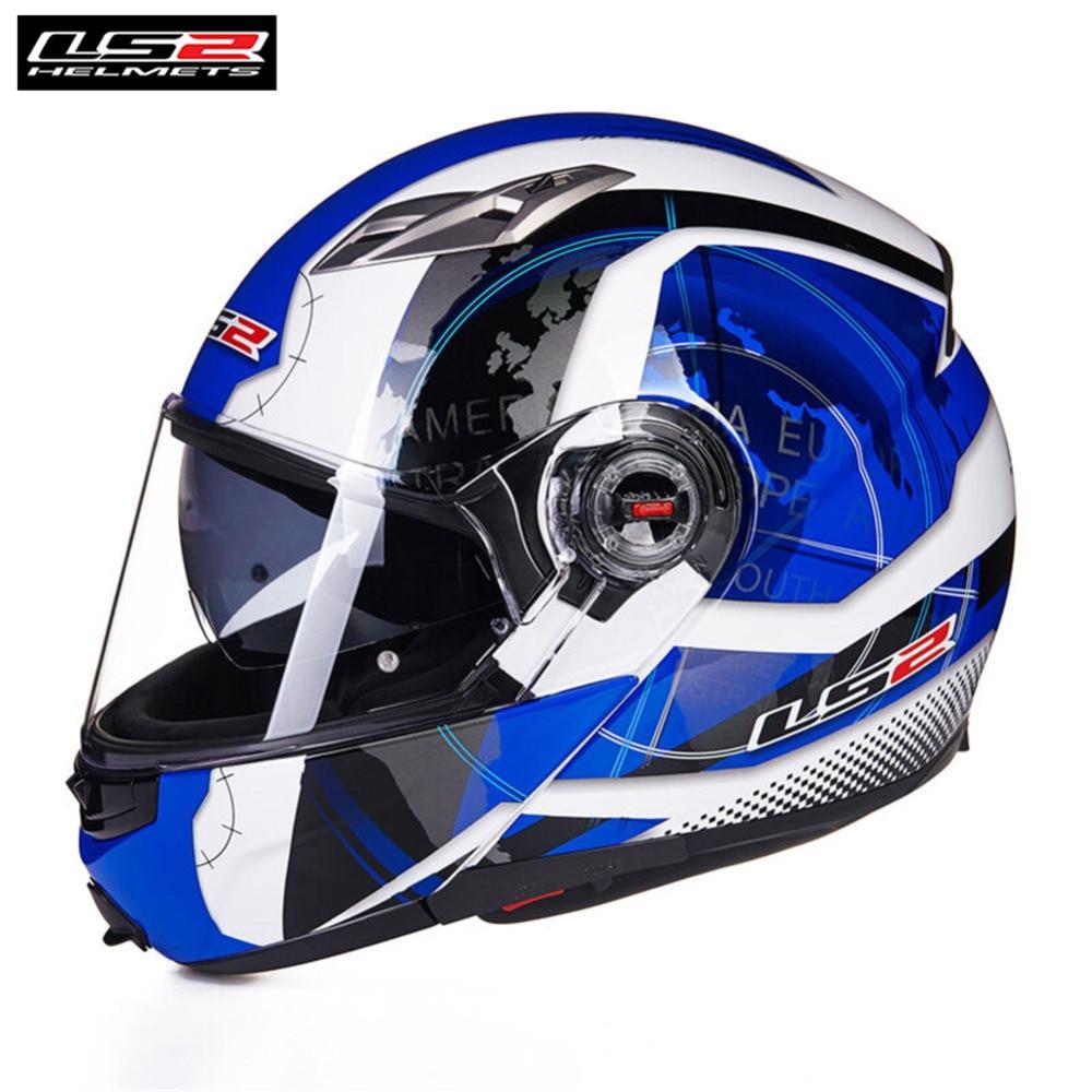 LS2 Flip Up Modulaire Plein Visage Casque de Moto Casque Capacete Casco Ouvert Moto Helm Casques Kask Motociclista Moto FF370