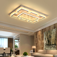 New Arrival Living Room Bedroom Study Room Ceiling Lights Plafonnier Crystal Rectangle Modern Led Ceiling Lamp