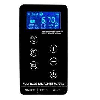 Original Hummingbird Bronc 3A Tattoo Power Supply Digital LCD Touch Screen Makeup Dual Tattoo Power Supplpy