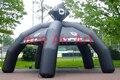 New style preto tenda aranha inflável para publicidade