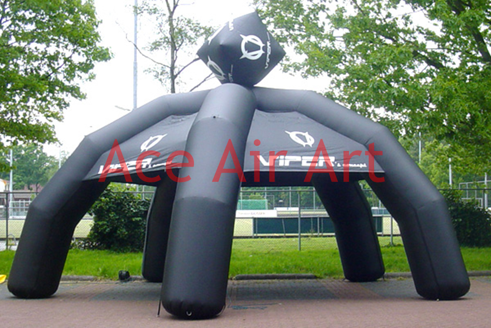 new style black inflatable  spider tent for advertising inflatable cartoon customized advertising giant christmas inflatable santa claus for christmas outdoor decoration