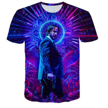 T-Shirt John Wick the Boogie Man Movie 3d print Wick: Chapter 3 - Parabellum tshirt o-neck short Keanu Reeves Killer xs-5x