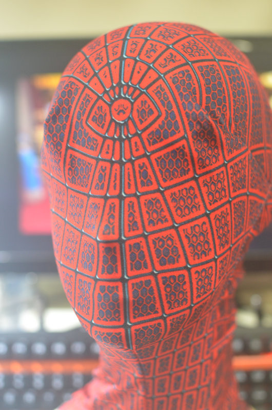 (HD08)Avengers Black Red Spiderman Super Hero Headhood for Women Men Kids Classic Halloween Spiderman Costumes