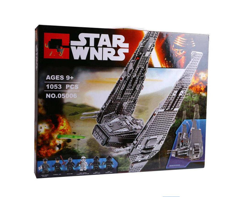 the 05006 Star wars Kylo Ren s Command Shuttle 75104 Toys building bricks marvel blocks DIY