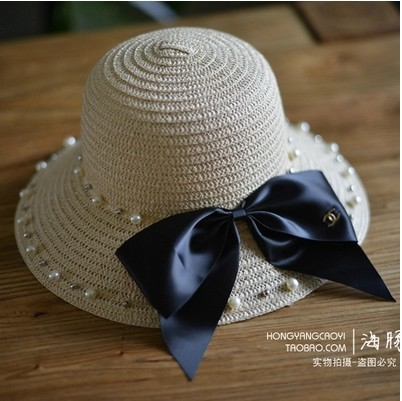 Straw Hats Women Summer Gorras Planas Sombrero Playa Mujer Sun Hats Garland Beach Hats For Women Chapeu Feminino Big Eaves Hat