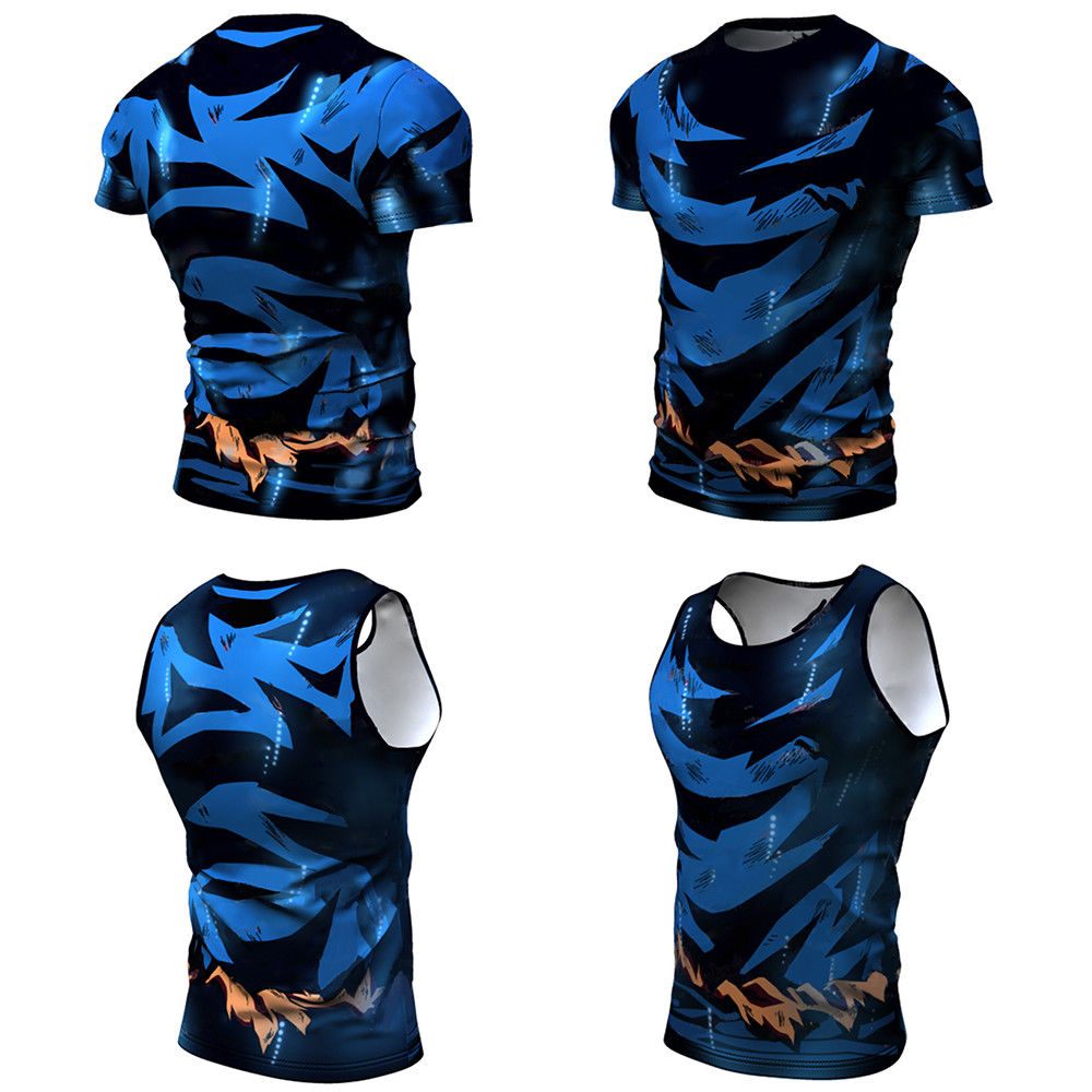 Cute Kid Goku 3D t shirt DBZ t shirts Men Casual tees Anime Dragon Ball Z Sports Fitness Costume Stringer Top Gym Vests Vegeta