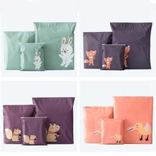 1PC Waterproofing Cartoon Animals Printed Storage Bags Baby Clothing Kids Toys Organizer Drawstring Cosmetic Candy Pouch Bags(China)