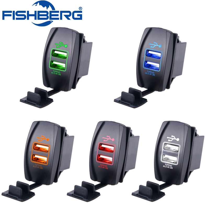 Dual USB Car Charger Universal Car Charger Waterproof 2Port For iPhone Samsung 3 1A Mini Auto