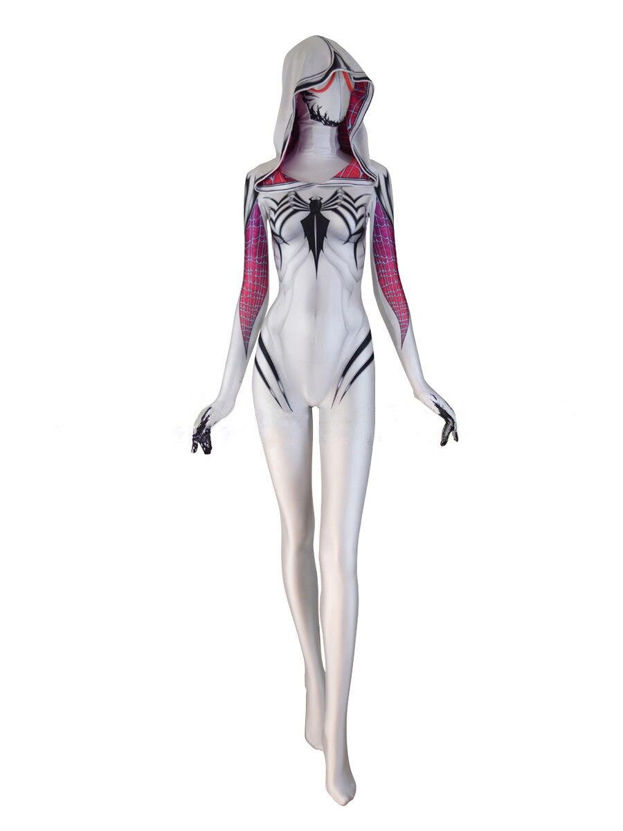 Anti-Gwenom spiderman homecoming Costume Anti-Gwen Stacy Cosplay Costume Spider Gwen Anti-Venom Spider Gwen Suit No Mask