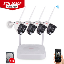 1080P NVR kit PIR Sensor Audio Recording 8CH FULL HD Wireless Security Camera P2P Wifi IP Outdoor Surveillance Set Tonton