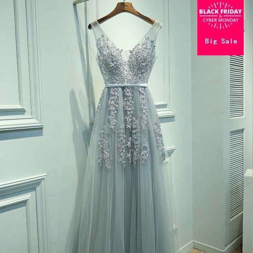 2018 fashion new banquet sleeveless dress long paragraph sexy slim backless mesh dress female embroidery high waist dress L802