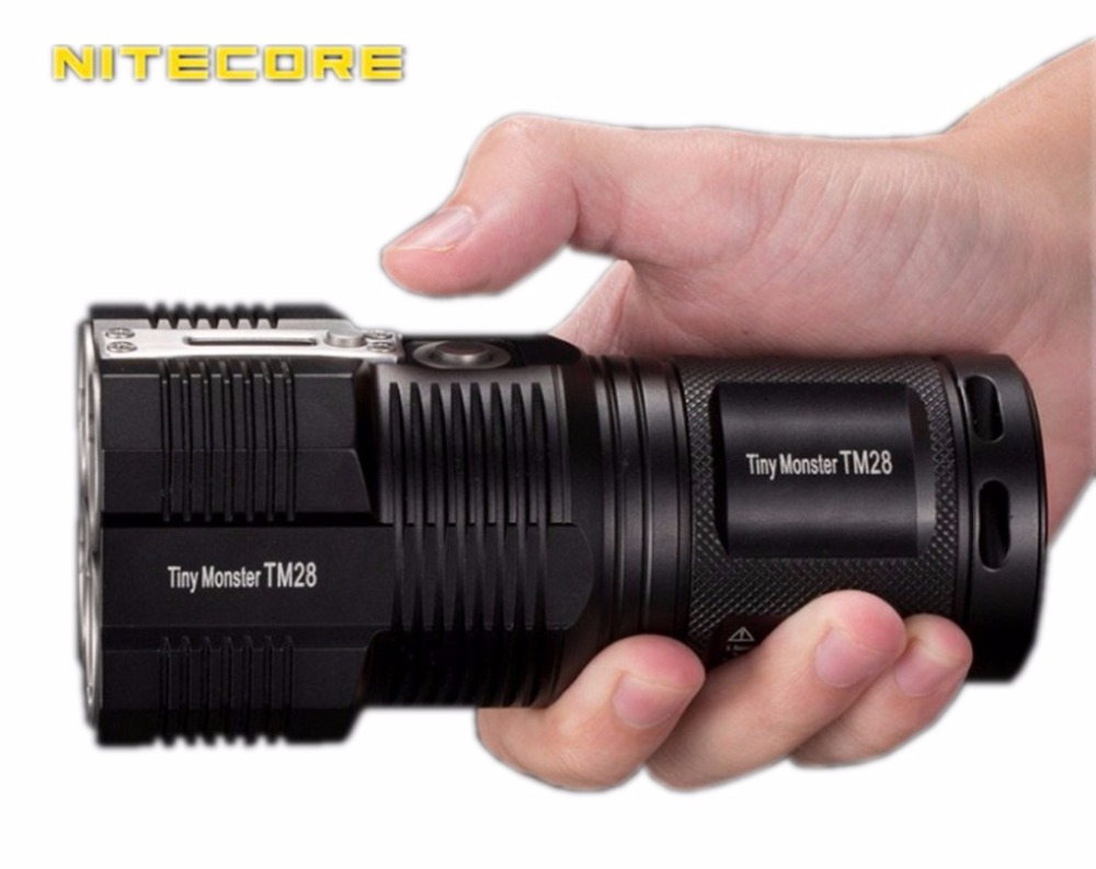 NITECORE TM28 Rechargeable flashlight 4 CREE XHP35 HI LED max 6000LM beam distance 655 meters outdoor torch high lumen light in Flashlights Torches from Lights Lighting