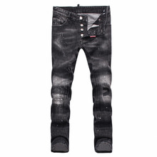 New Arrival fashion high quality autumn and winter jeans Slim hole Man Skinny Denim Trousers Casual long jeans stitching D1820