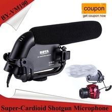 BOYA BY-VM190 стерео Shotgun микрофон w/лобовое стекло для Canon Nikon Pentax DSLR камеры