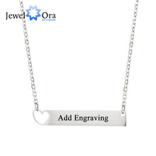 купить Personalized Customization Promise Bar Necklace Nameplate Stainless Steel Necklaces & Pendants For Women (JewelOra NE101788) по цене 64.48 рублей