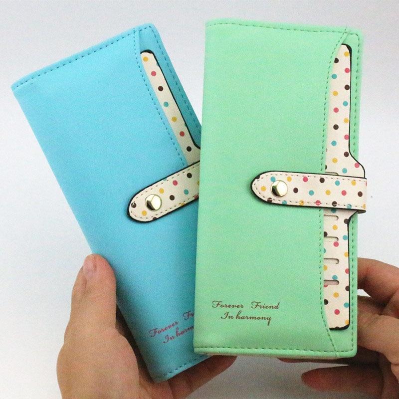 Designer Famous Brand Long Clutch Ladies Luxury Leather Slim Women Wallets Female Purse Carteras Walet Money Portfel Card Holder