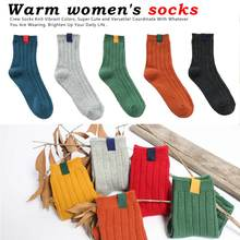Unique 1Pair Warm Women Socks Striped Autumn Winter Style Christmas for Woman Female Funny Sock