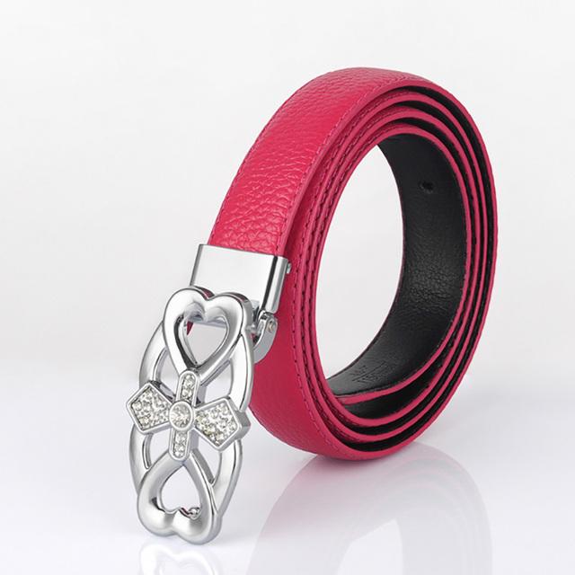 Os Designers De Luxo do vintage Do Couro Marca Top Layer Cowskin Cintos de Couro Genuíno para As Mulheres de Alta Qualidade Femal Rosa