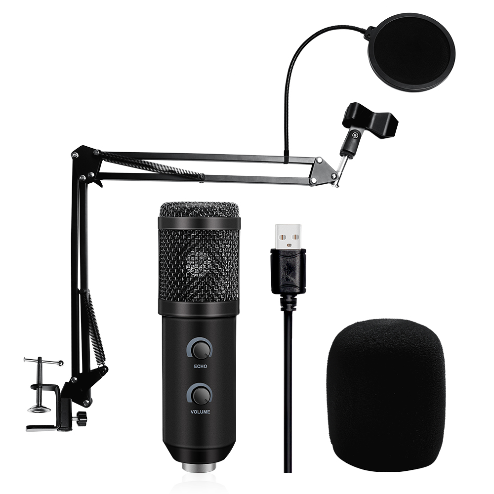 BM 800 Upgraded BM 900 USB Microphone For PC Microfone Condensador USB Karaoke Microphone With Stand Tripod &Pop Filter