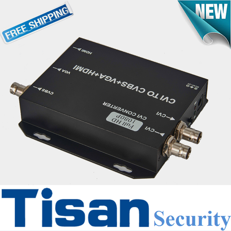 Фотография 720P 960H 1080P HD CVI to HDMI VGA CVBS Video Converter Support CVI loop output