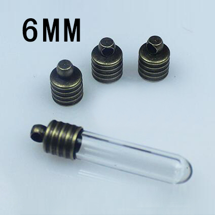 25PCS 6MM METAL CAPS BRONZE-PLATED ,For 6MM Glass Vials
