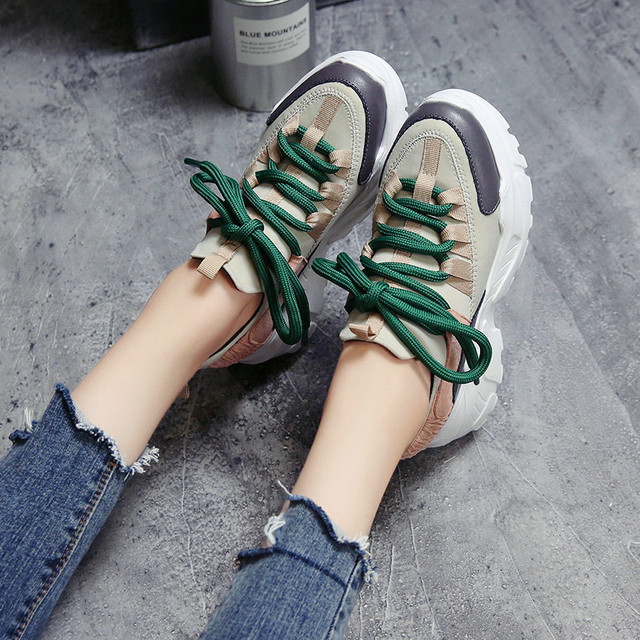 Height Increasing Women Shoes Breathable Casual Trainers For Ladies Platform Sneaker Unisex Footwear Baskets Chaussure Femme