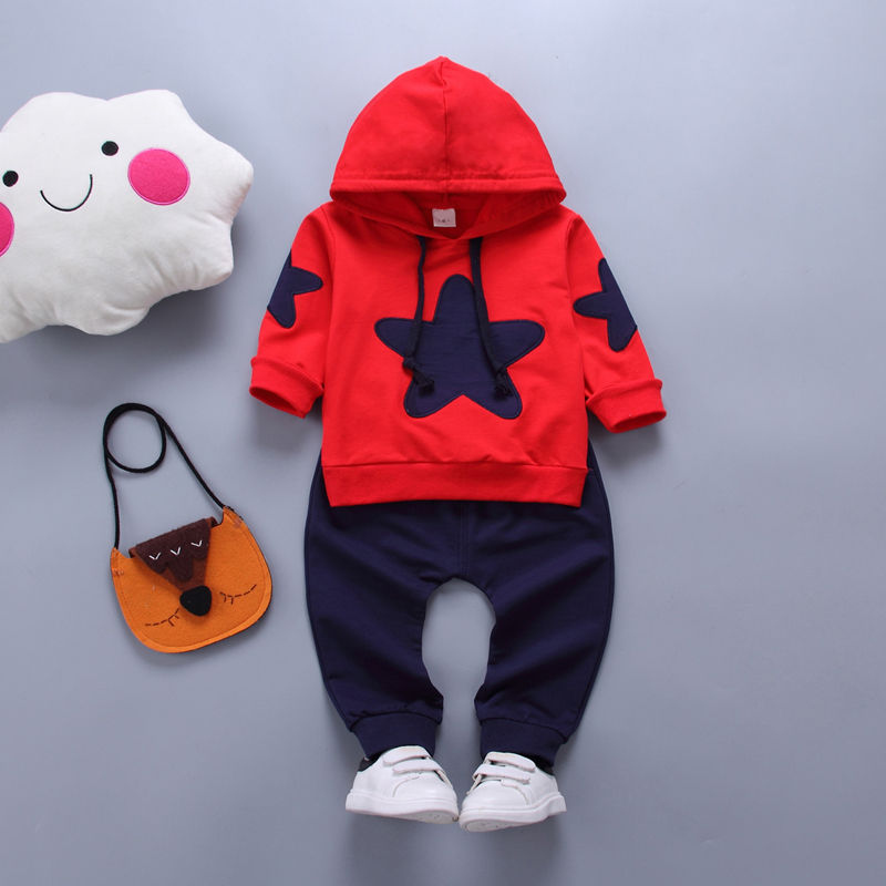 New children clothing suits kids Spring casual hooded coat+ trousers 2pcs/set 5 stars pattern boys clothes autumn wear. kids boys autumn clothing set new children spring and autumn leisure sport long sleeved two piece 5 8 10 12 age kids coat pants