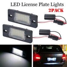 5W LED License Plate Light VW T5 Passat 3C B6 Caddy Touran Golf Plus 7403 6500-7000K license plate lights For Porsche VW