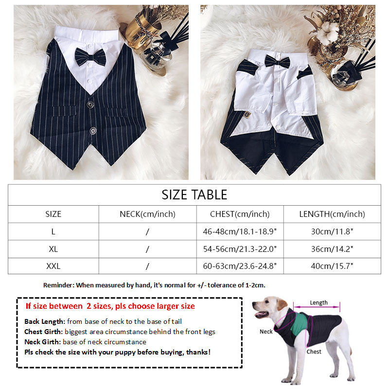 2018 New Pug Dog Clothes for Small Medium Dogs Chihuahua Clothing Striped Suit for French Bulldog with Bow Tie Dog Costume 2XL in Dog Coats Jackets from Home Garden