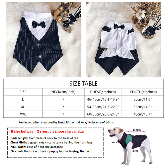 2018 New Pug Dog Clothes for Small Medium Dogs Chihuahua Clothing Striped Suit for French Bulldog with Bow Tie Dog Costume 2XL  My Pet World Store