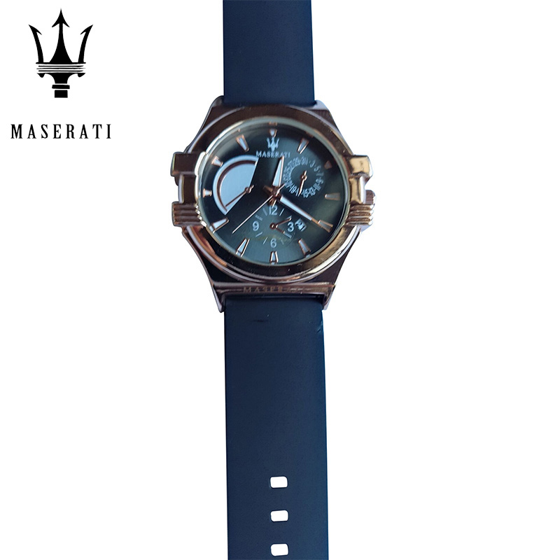 Maserati New Fashion Quartz Wristwatches Men's Brand Luxury Sports Waterproof Watch Clock Leisure Round Dial Watch 42367156-9 1children time sports watch leisure new 5per ytl0815 ttb01