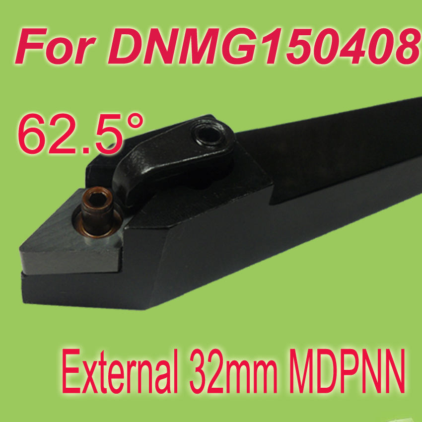 Free Shiping MDPNN 32*32*170 SHK 1-1/4''  62.5 Degree External Turning Lathe Bar Tool Holder For DNMG free shipping p type cnc tool cutter pclnr 2020k12 external turning tool holder blade lathe cutters