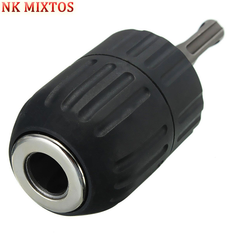 NK MIXTOS 2-13MM Professional Drill Chuck Keyless Drilling Quick Change Bit Adapter Converter