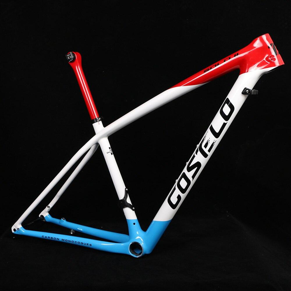 T1000 Costelo SOZINHO II Montanha De Fibra De Carbono MTB 29er quadro De Carbono quadro de bicicleta braçadeira selim apenas 820-920g apenas Super leve