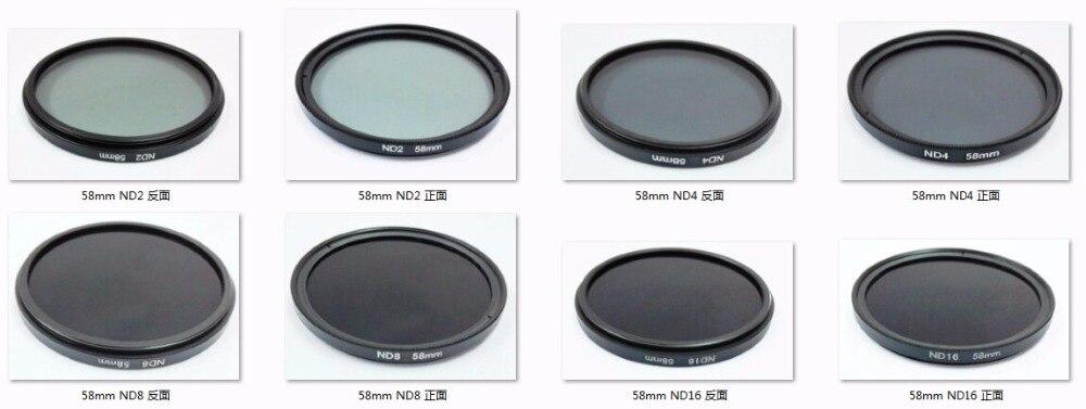 37 40,5 46 49 52 55 58 62 67 72 77 82mm Neutral DensityND2 ND4 ND8 ND16 ND32 lente filtro para 5D2 5D3 5D4 6D 7D2 D800 D500 1DX D5