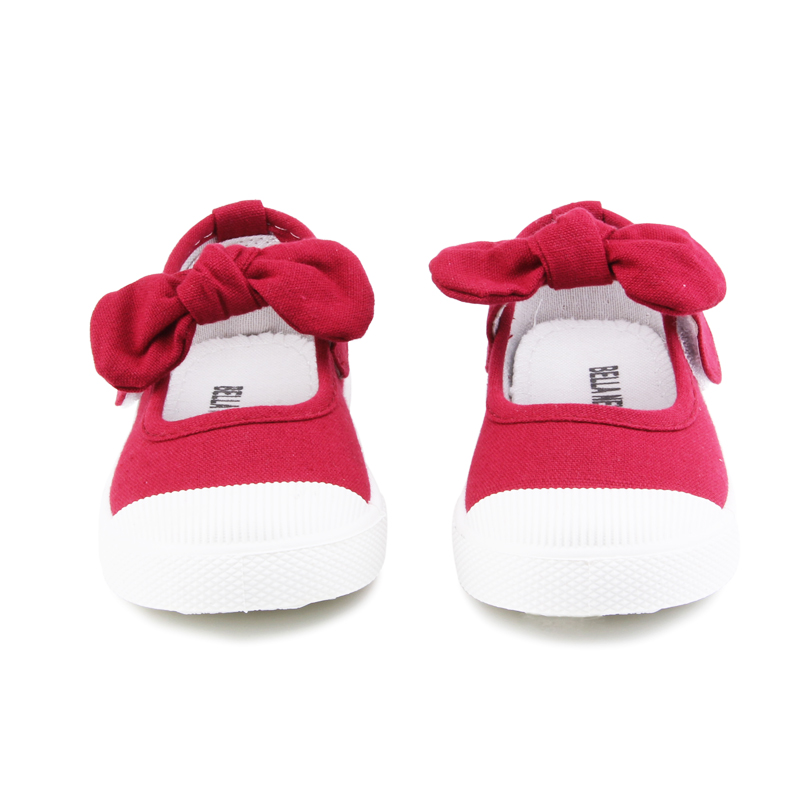 Baby Girl Shoes Canvas Casual Kids Shoes With Bowtie Bow-knot Solid Candy Color Girls Sneakers Children Soft Shoes 21-30 17