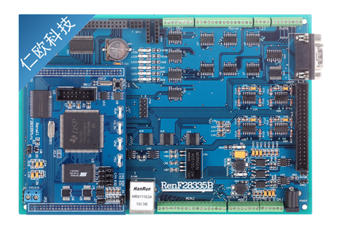 DSP Development Board, TMS320F28335 Development Board, Industrial Quality, External Expansion Ethernet Port