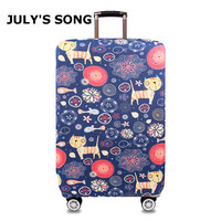 IIIustration Cat Design Protective Luggage Cover Waterproof Travel Luggage Cover Suit For 18 32 Inch Case