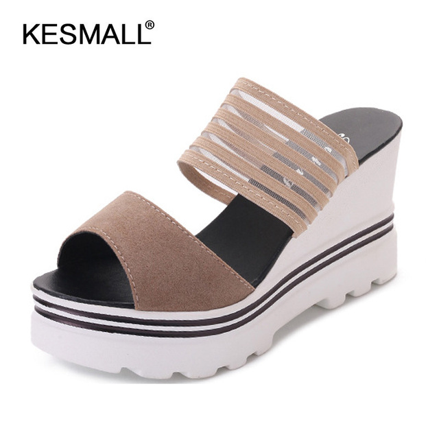 3b40cb6d8dcbd 2018 fashion new sexy sponge fish mouth shoes wedges lady sandals type  thick bottom high waterproof units with a word slippers