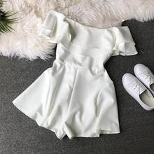 new summer playsuits 2019 women short sleeve sexy off shoulder shorts jumpsuits