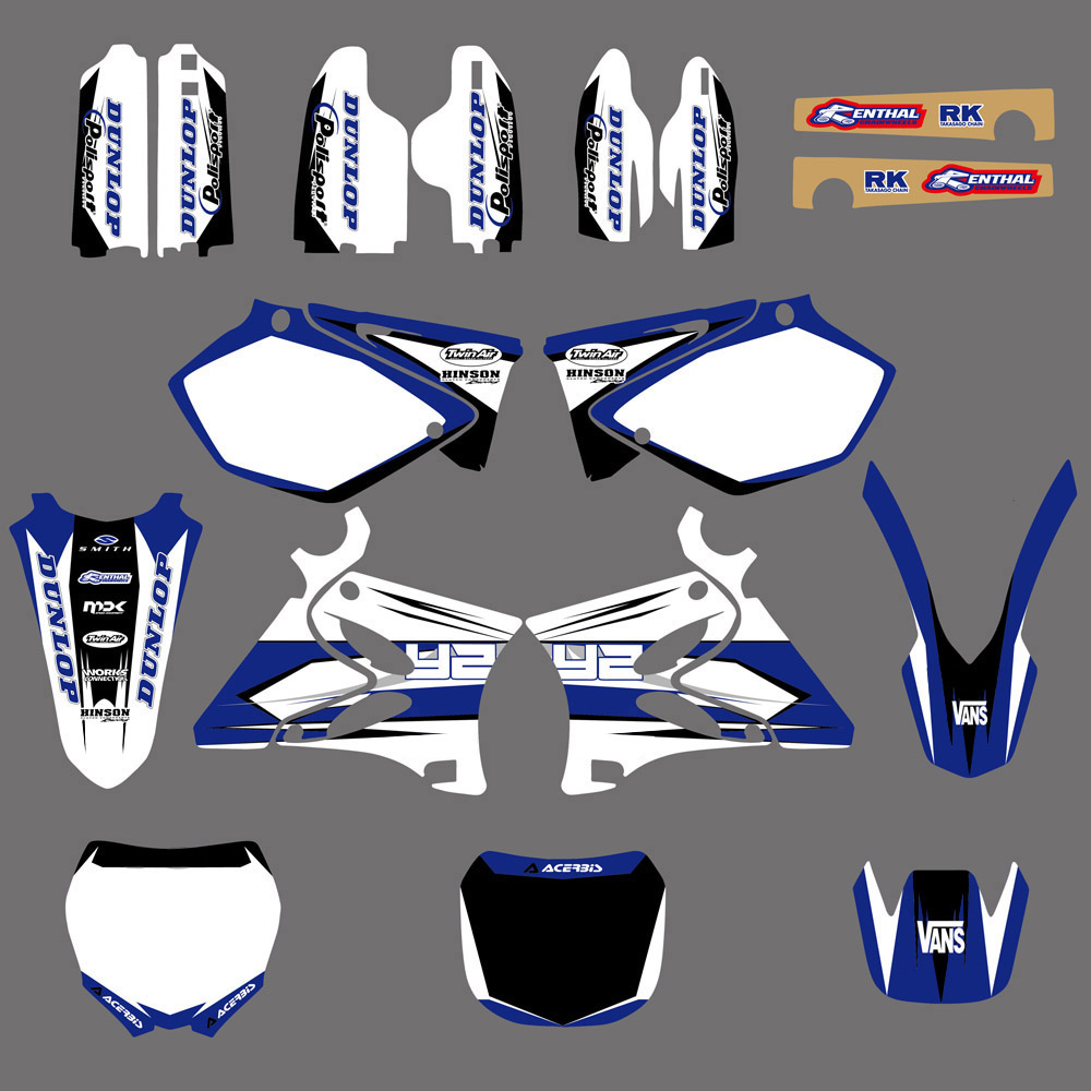 TEAM GRAPHICS BACKGROUNDS DECALS STICKERS Kits for Yamaha