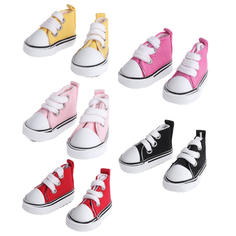 5cm Doll Shoes Accessories Canvas Fashion Summer Toys Mini Sneakers Denim Boots Oct20-A