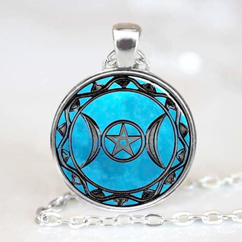 Star Moon Pendant font b Anime b font Space Pendant Galaxy Women Jewelry Necklace Friend Gift