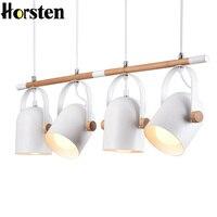 Horsten Nordic European 4 Heads Pendant Lights For Dinning Room Restaurant Modern Wooden Pendant Lamp Hanging
