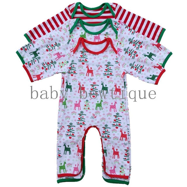 e749c37a2 Baby Girls Boys Christmas Pajamas Full Piece Newborn infant Baby ...
